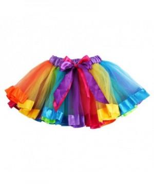 Ehdching Layered Rainbow Dancewear Bowknot