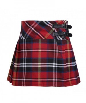 iEFiEL Girls Pleated Schoolgirls Tartan