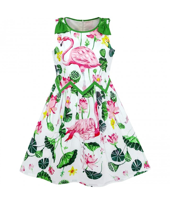Sunny Fashion Girls Dress Flamingos