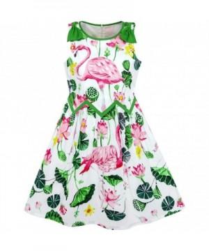 Sunny Fashion Girls Dress Flamingos