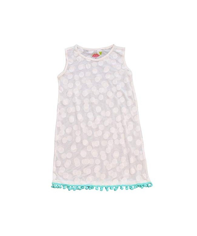 Three Friends Apparel Kids Hooded Cover-up with Pom Poms