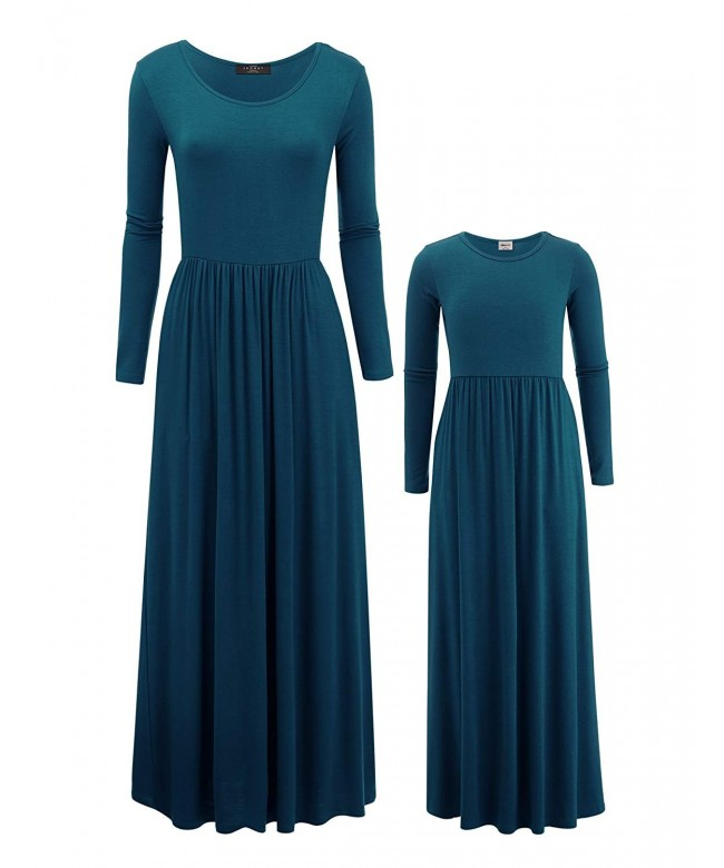 Mommy Sleeve Solid Dress Pockets