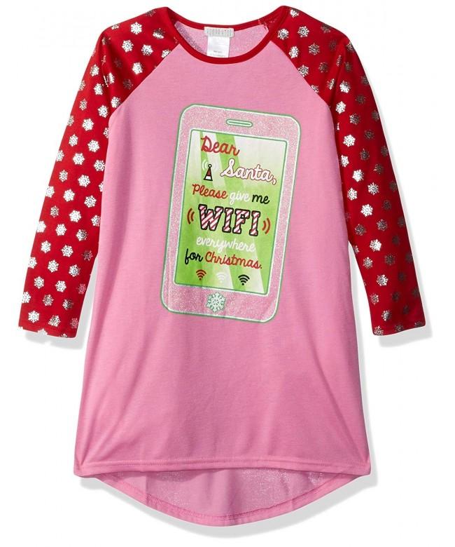 Komar Kids Holiday Jersey Nightgown
