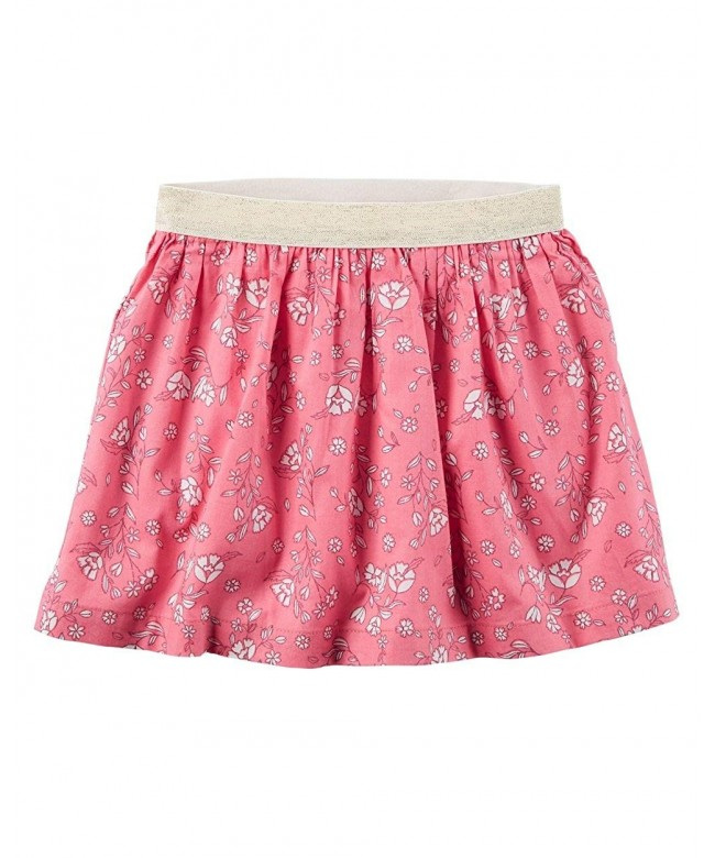 Carters Girls Floral Metallic Skirt