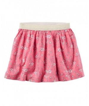 Carters Girls Floral Metallic Skirt