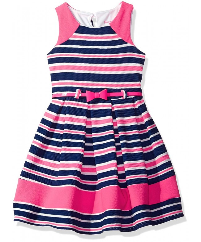Nannette Girls Printed Colorblock Detail