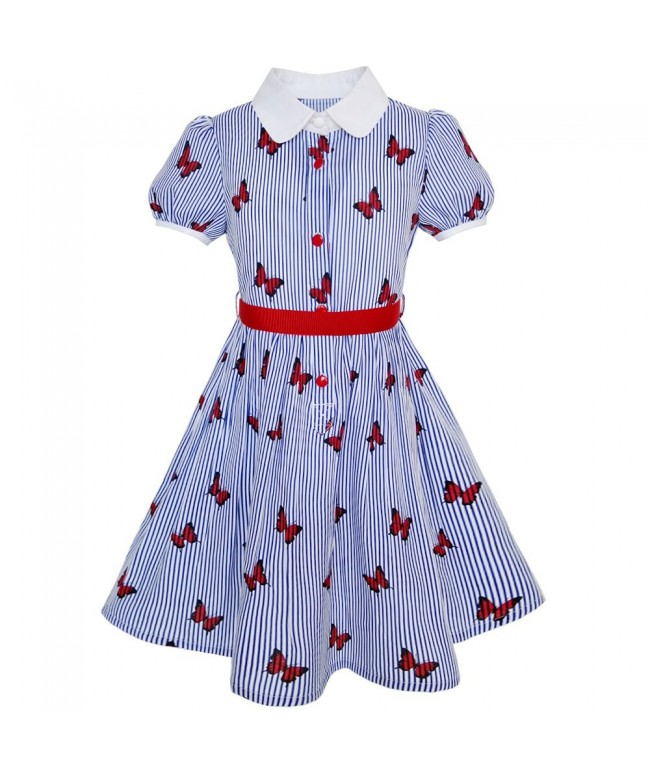 Sunny Fashion School Butterfly Gingham