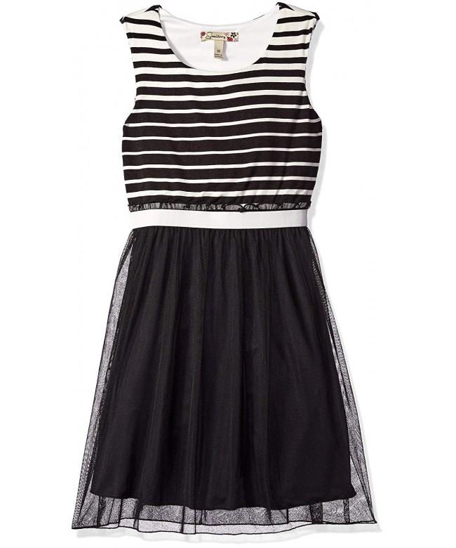 Speechless Girls Banded Stripe Sleeve