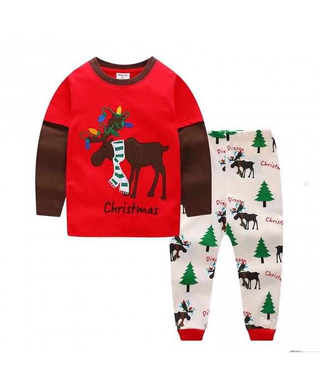 Toddler Christmas Pajamas.Little Boys Girls Kids Christmas Pajamas Set 100 Cotton Toddler Pjs Flying Reindeer Size 3 Years Cm18ishz9lc