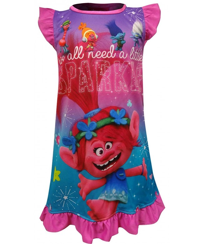 AME Sleepwear Trolls Sparkle Nightgown