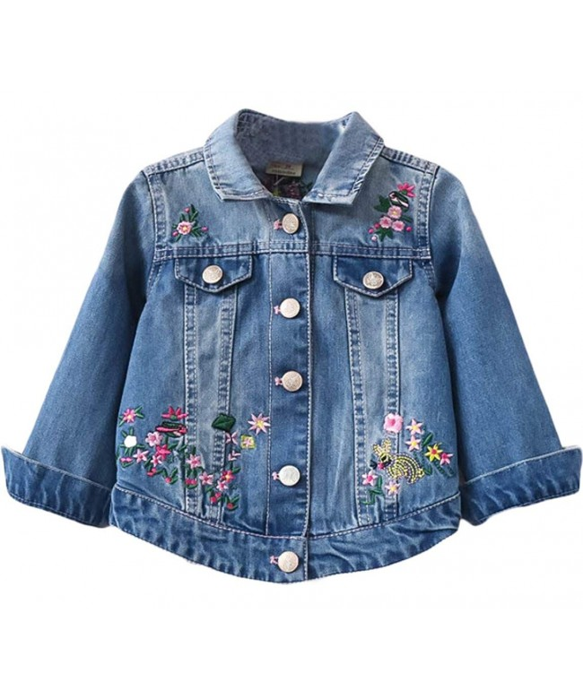 EGELEXY Toddler Embroidered Jacket Embroidery