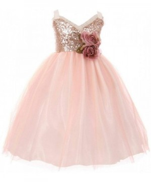 Sequins Ruffle Layered Pageant Flower