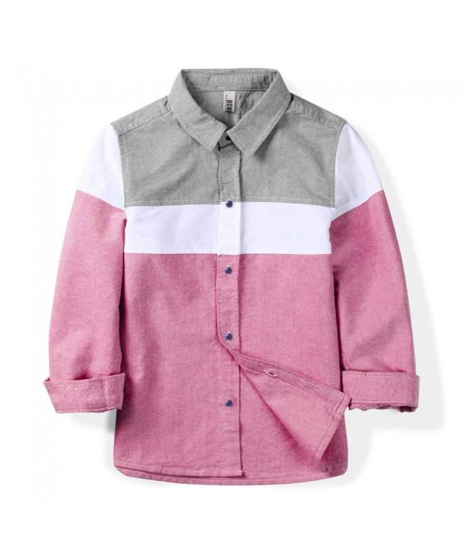 OCHENTA Sleeve Button Oxford Little