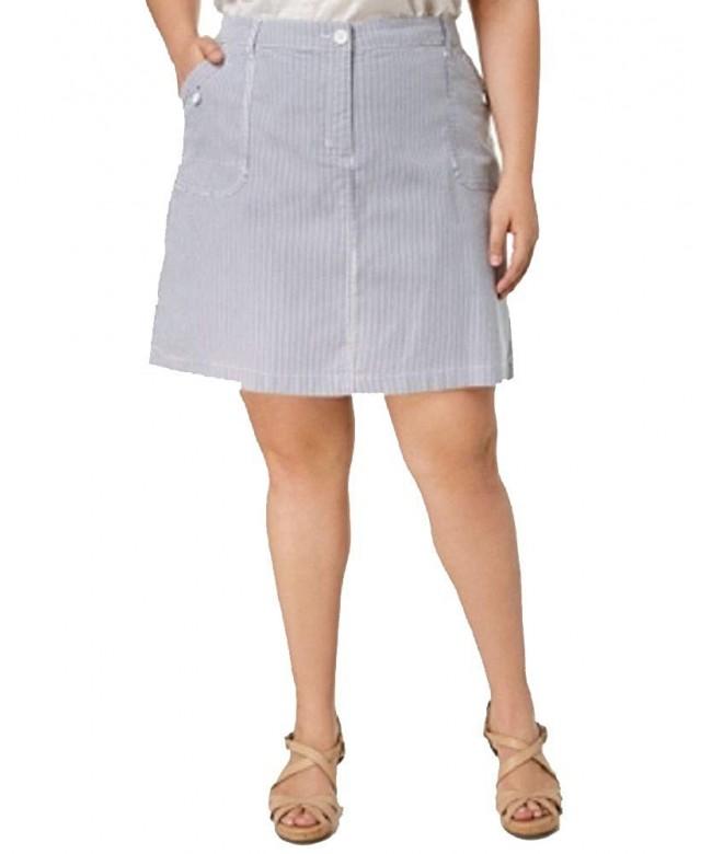 Karen Scott Plus Striped Skort
