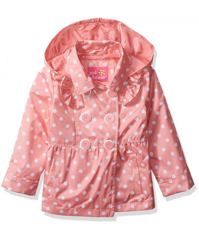Pink Platinum Toddler Ruffled Trench