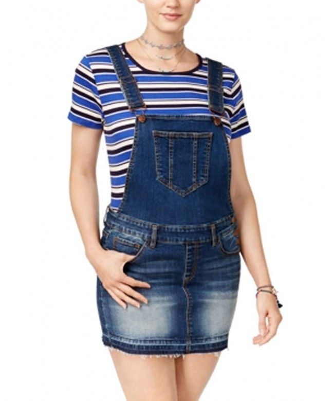 dollhouse Juniors Denim Overall Skirt