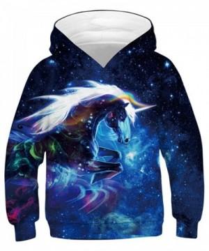 NAYINLAN Rainbow Unicorn Pullover Sweatshirt