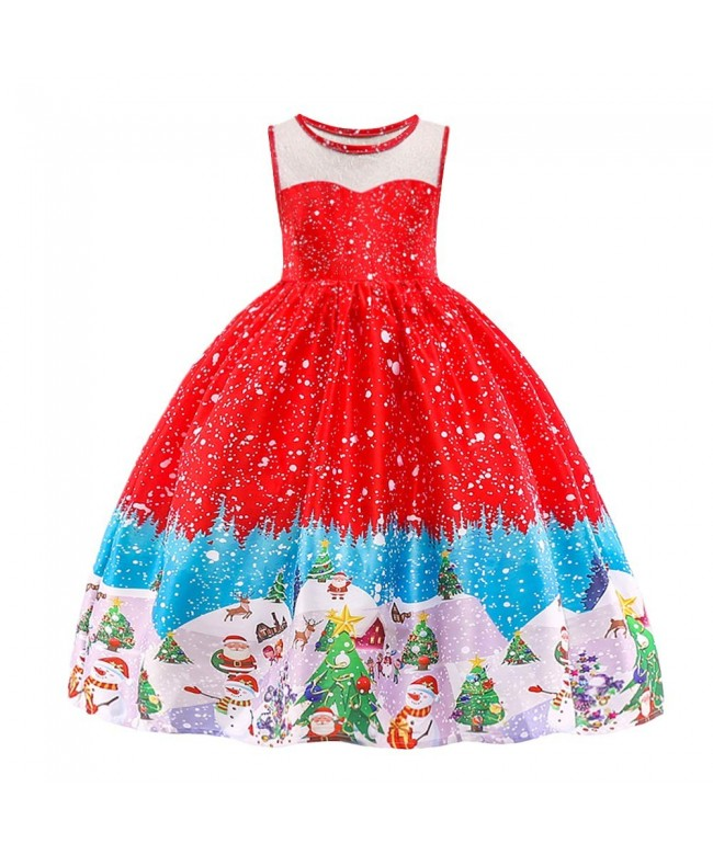 HUANQIUE Girls Christmas Holiday Dresses