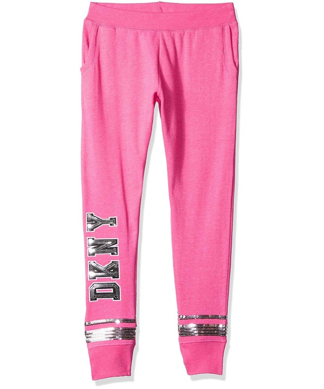 DKNY Girls Sequin Heather Sweatpant