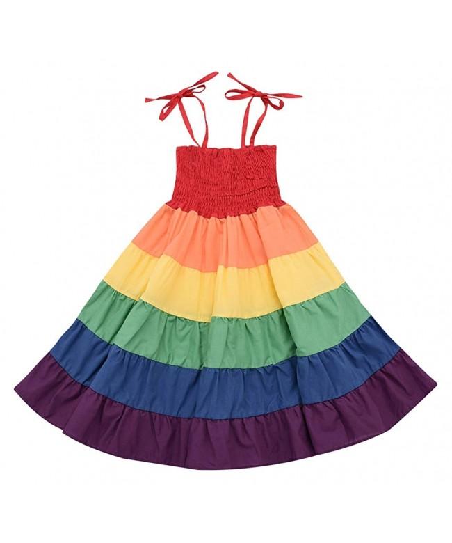 Rainbow Toddler Princess Sleeveless Sundress