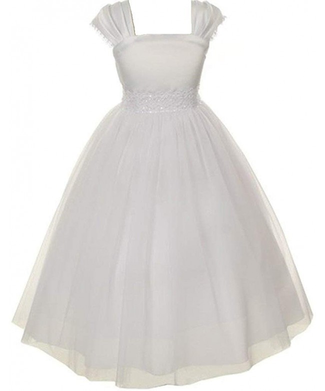 Dreamer Communion Pleated Flowers Dresses