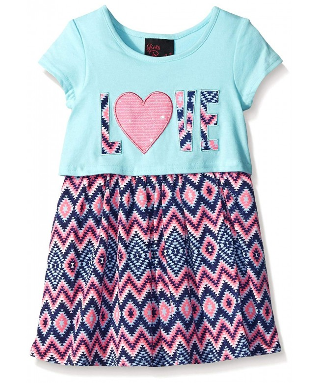 Girls Rule Dress Printed Popover