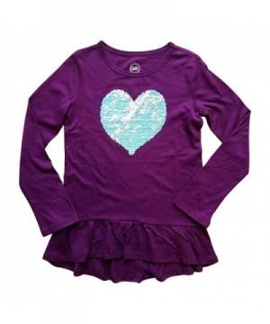 Flippy Sequin Heart Purple Sleeve