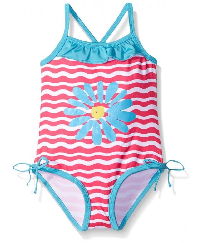 Pink Platinum Girls Daisy Swimsuit
