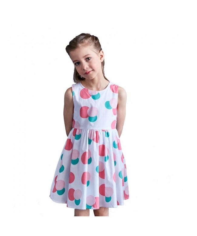 Little Girls Vintage Sleeveless Dresses