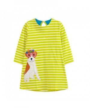 RoCoos Toddler Animals Applique Dresses