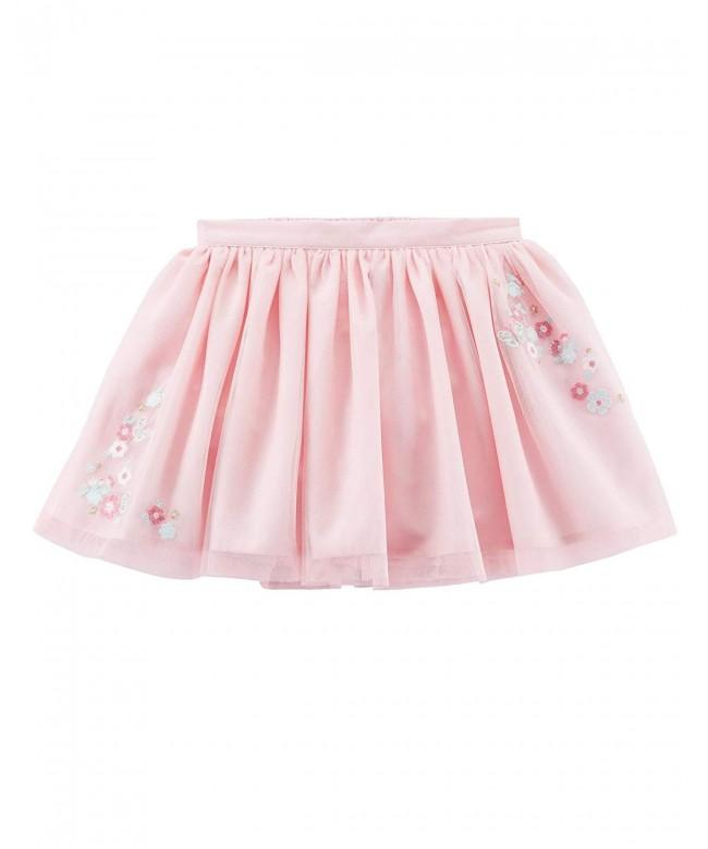 Carters Girls Tulle Skirt Applique