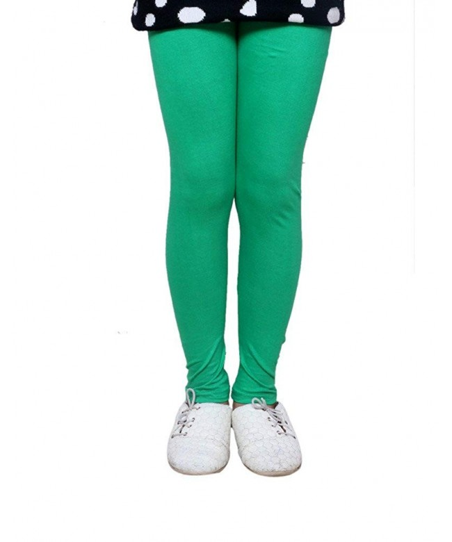 Indistar Girls Super Cotton Leggings_Green