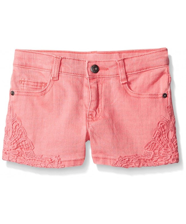Crazy Girls Pink Crochet Trim Shorts