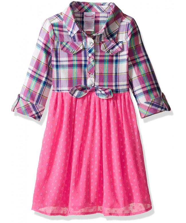 Nannette Girls Dress Ruffled Bodice