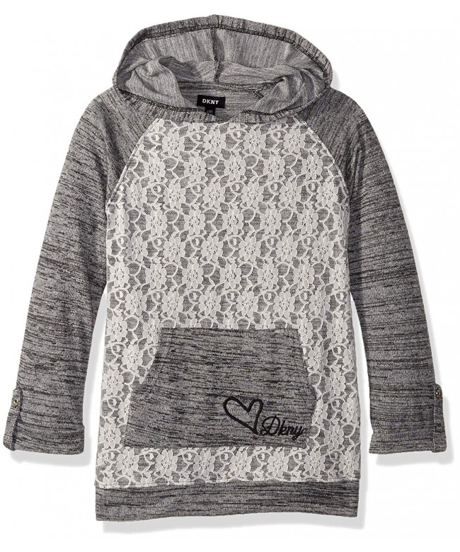 DKNY Girls Hooded Sleeve Overlay