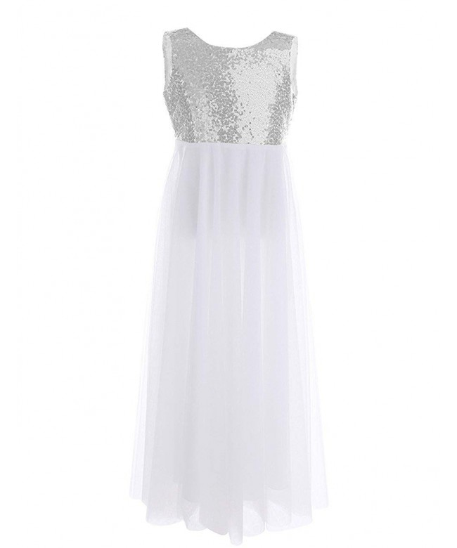 TiaoBug Sequined Princess Backless Wedding