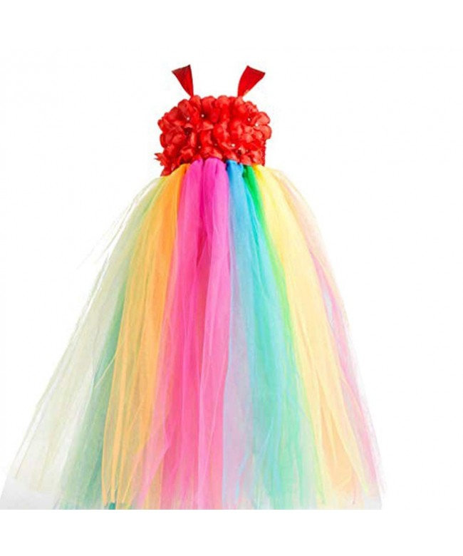 Valecos Flower Rainbow Tulle Frilly