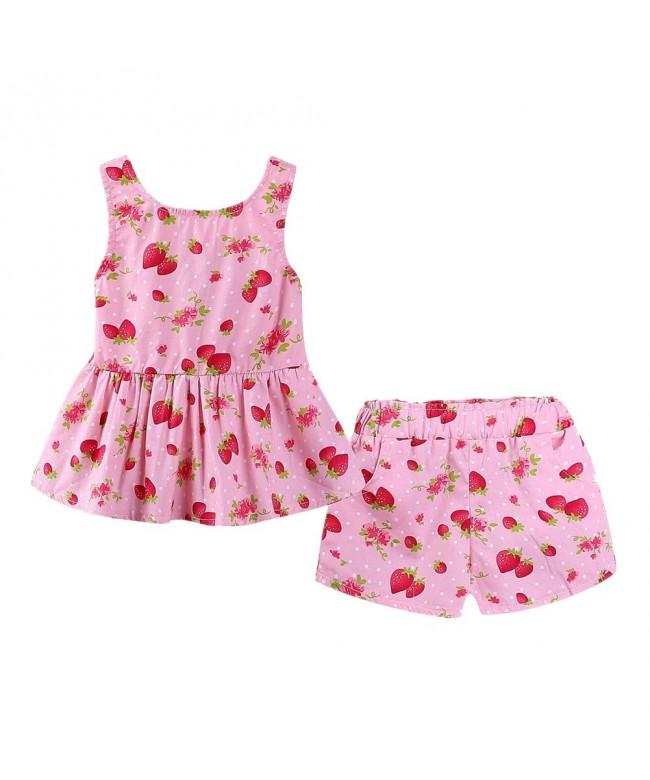 LittleSpring Little Girls Shorts Sleeveless