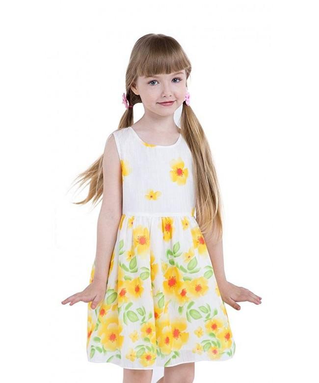 JI Little Floral Dresses Sun ower