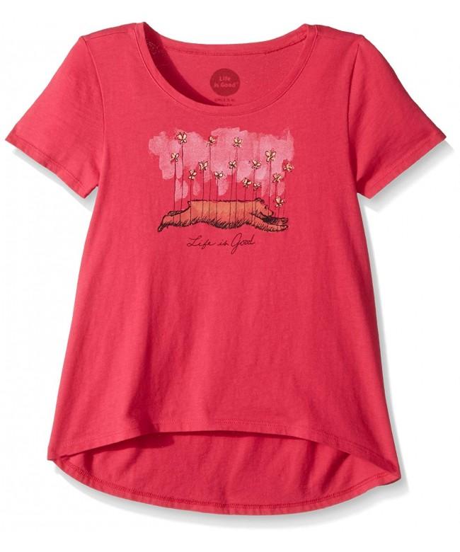 Life Good Butterfly Poppnk T Shirt