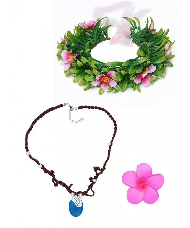 Muababy necklace Hawaii flowers headband