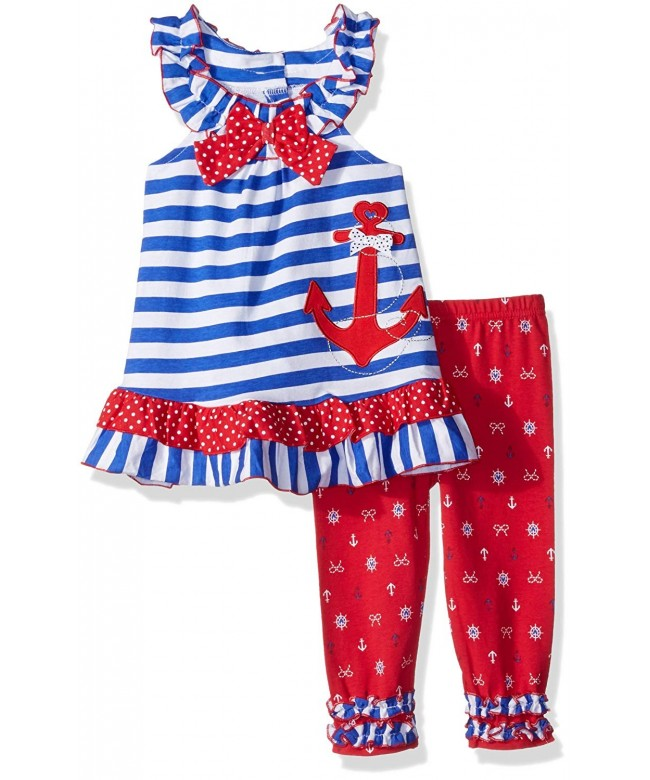 Nannette Girls Toddler Americana Applique