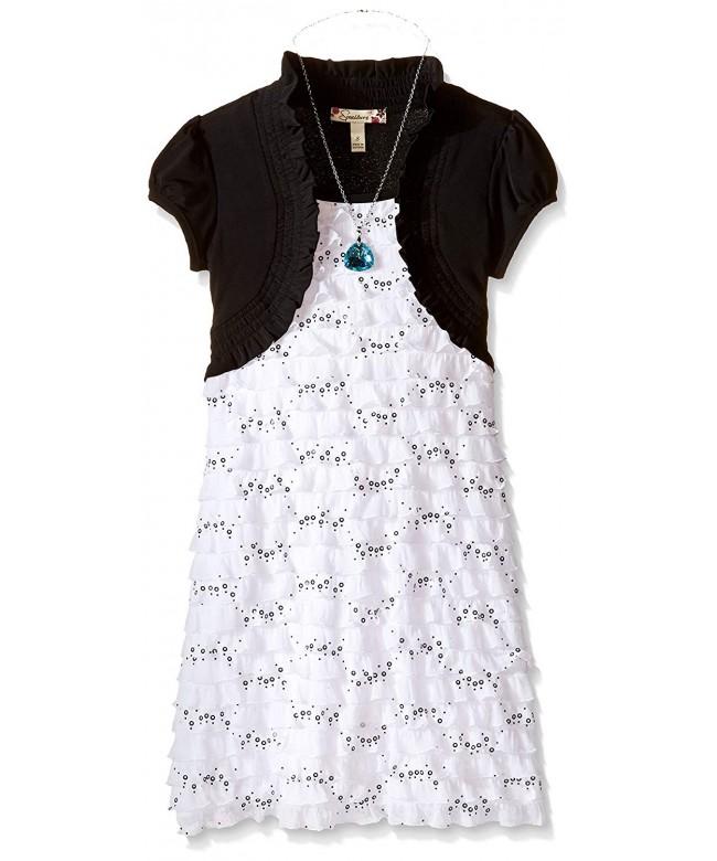 Speechless Girls Glitter Eyelash Dress
