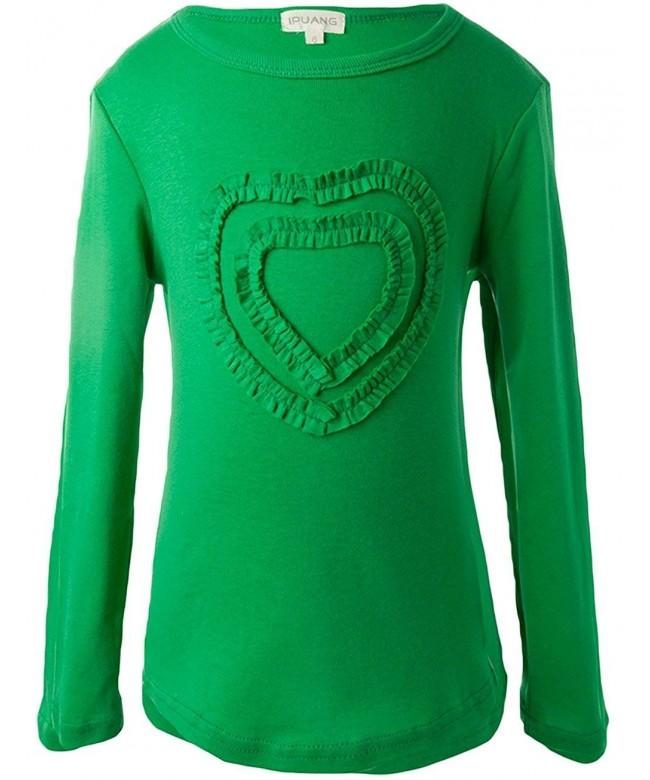 Ipuang Girls Heart Shaped Sleeve T Shirt