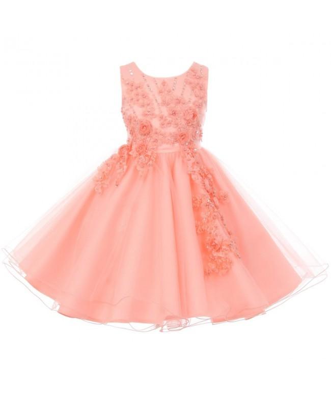 Sleeveless Sequins Applique Glitters Dresses