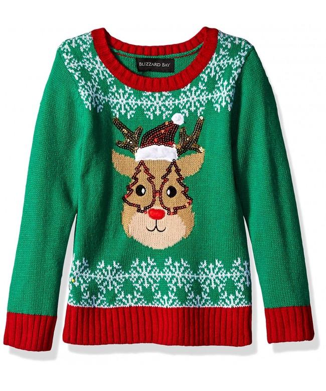 Blizzard Bay Christmas Reindeer Sweater