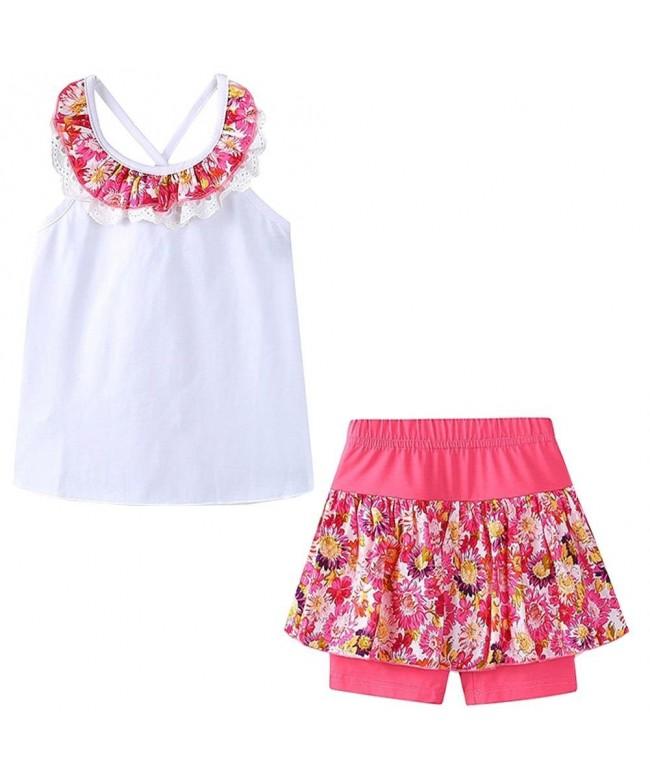 Bleubell Summer Shorts Flower Sleeveless