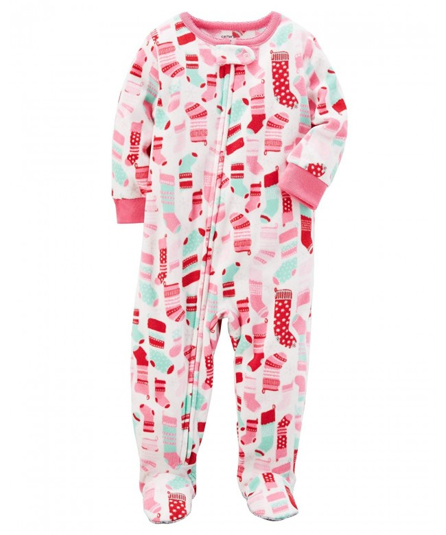 Carters Girls 12M 14 Fleece Pajamas