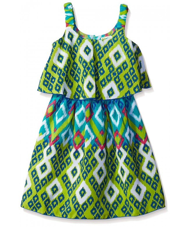Youngland Girls Printed Popover Sundress