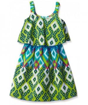 Youngland Girls Printed Popover Sundress